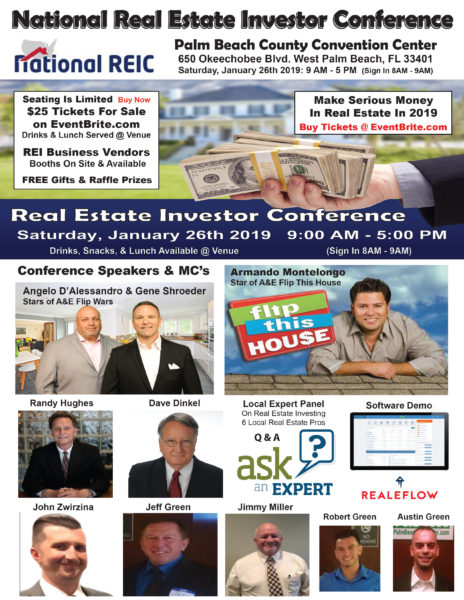 National Real Estate Investor Conference & Expo @ Palm Beach County Convention Center | West Palm Beach | Florida | United States